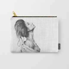 Pretty Lady Illustration Woman Portrait Beauty Carry-All Pouch