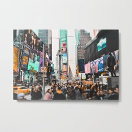 Teal NYC Metal Print