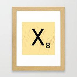 Scrabble X Initial - Large Scrabble Tile Letter Framed Art Print