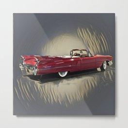 Classic 1959 Red Cadillac Convertible Metal Print