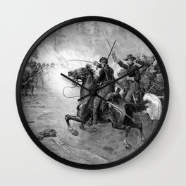 Union Cavalry Charge Wall Clock