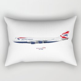 British Airways 747 Rectangular Pillow