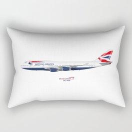British Airways 747 Rectangular Pillow