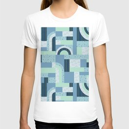Ice Xmas Quilt #socety6 #pattern T-shirt