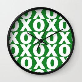 XOXO - Green Pattern Wall Clock