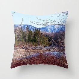 The Way to the Mountain Throw Pillow