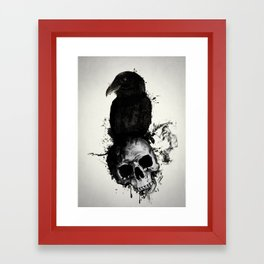 Raven and Skull Framed Art Print