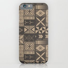 UrbanNesian Camo Siapo and Tatau iPhone Case