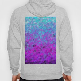 Totally Awesome Bright Turquoise & Fuchsia Pink Hoody