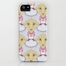 Bobblehead Grannies Everywhere Tessellation iPhone Case