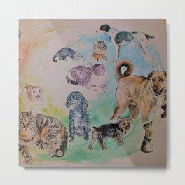 Animal Colage Metal Print