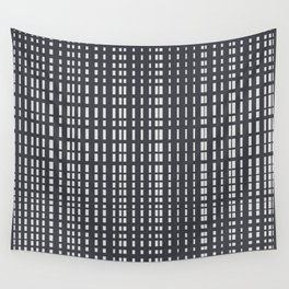 Light Grey Dotted Lines on Grey Wall Tapestry