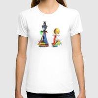 chess T-shirts featuring chess by tatiana-teni