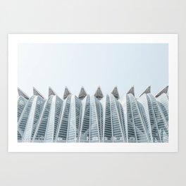City of Arts and Sciences | Architecture by CALATRAVA | Valencia Art Print