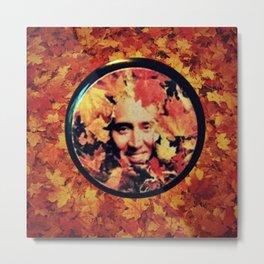 """Nicolas cage eyeshadow: """"Nic Cage Raking Leaves On a Brisk October Afternoon"""" Metal Print"""