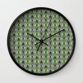 Gray-green geometry. Wall Clock