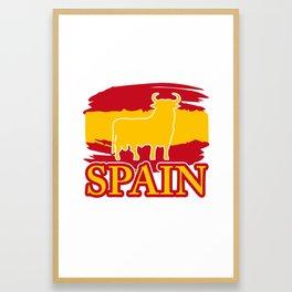 Spain Spanish gift Madrid Barcelona Iberia Framed Art Print