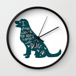 Stay at Home Dog Wall Clock