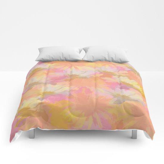 Painted Spring Flowers Comforters