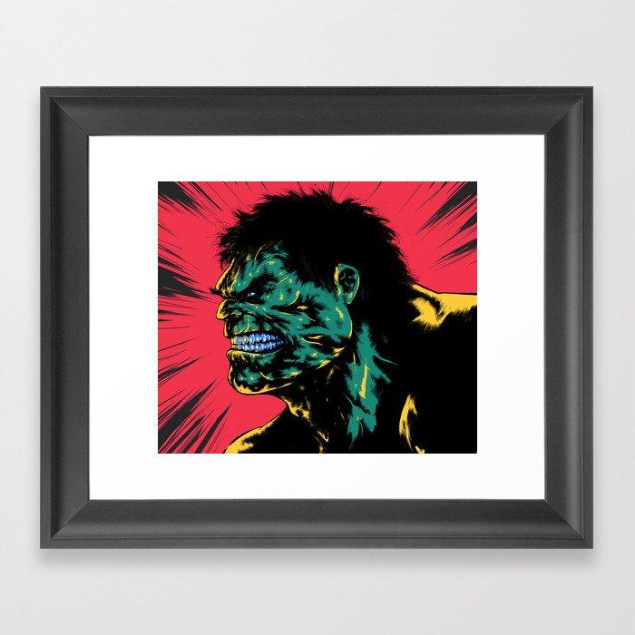 Hulk - Green Framed Art Print