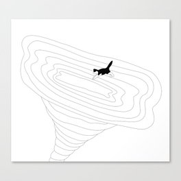 Cat jump in the tornado Canvas Print