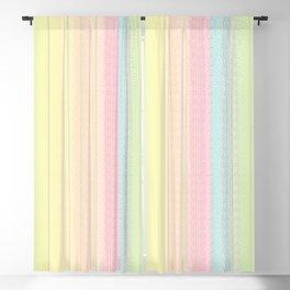 Jiggle Stripes - Pastels Glimmer Rainbow Blackout Curtain