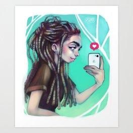 Selfie Girl Art Print