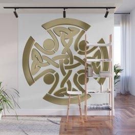 Celtic golden knot Wall Mural