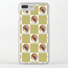 Game of Bones Brienne as a Great Dane Clear iPhone Case