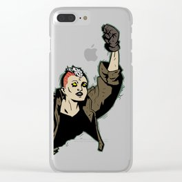 Super Heroine 2 Clear iPhone Case