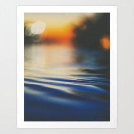 Sunset Ripples Art Print