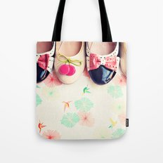 Bow and Cherries Shoes Tote Bag
