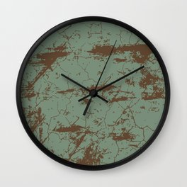 cracked concrete vintage wall background,old wall Wall Clock