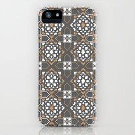 oriental brown mosaic iPhone Case