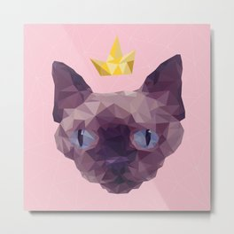 King Cat. Metal Print