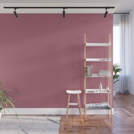 Dark Pastel Pink Solid Color Pairs To Coloro Cassis Pink-ish Purple 158-51-16 Wall Mural