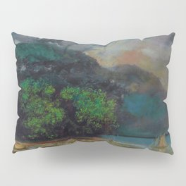 """Gustave Courbet """"Lac Léman avant la tempête (Lake Geneva before the storm)"""" Pillow Sham"""