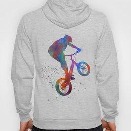 Watercolor bmx racing cyclist-14 Hoody