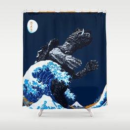 The Great Gamera Wave Off of Kanagawa Shower Curtain