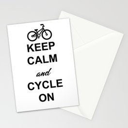 Keep Calm And Cycle On Stationery Cards