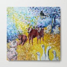 Farm Animals Protected by Saint Brigid of Kildare Metal Print