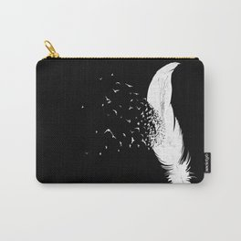 Birds of a Feather (Black) Carry-All Pouch