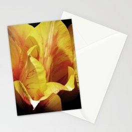 Single Yellow Tulip Stationery Cards