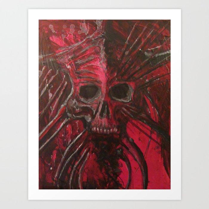 Dead Red Art Print
