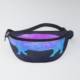 PIG IN SPACE // Animal Graphic Art // Watercolor Canvas Painting // Modern Minimal Cute Fanny Pack