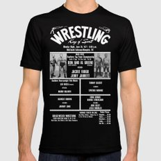 #14-B Memphis Wrestling Window Card Mens Fitted Tee Black SMALL