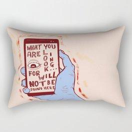 Not Here Rectangular Pillow