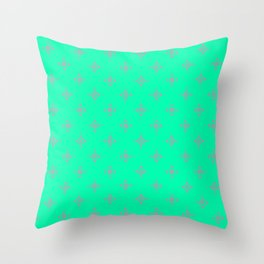 Ornamental Pattern with Mint and Grey Colourway Throw Pillow