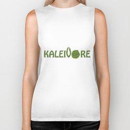 Kaleivore Kale Art for Vegans, Vegetarians Light Biker Tank