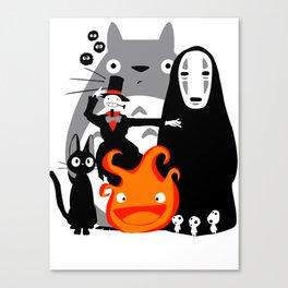 Ghibli'd Away Canvas Print